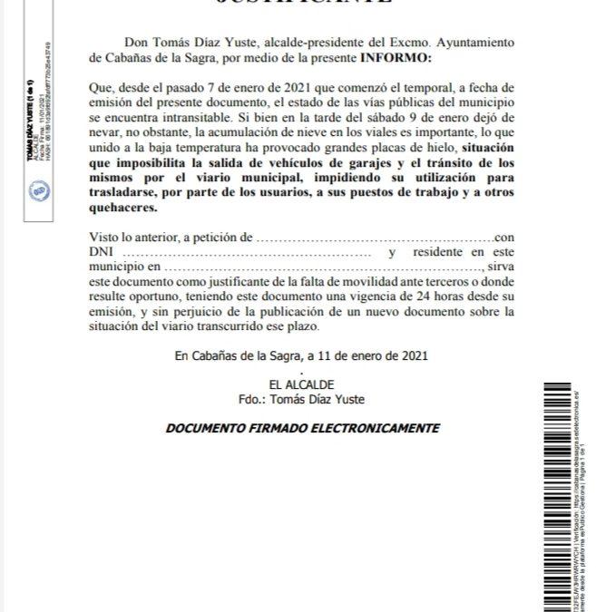INFORME DE ALCALDÍA SOBRE EL ESTADO ACTUAL DE LAS VÍAS PÚBLICAS.